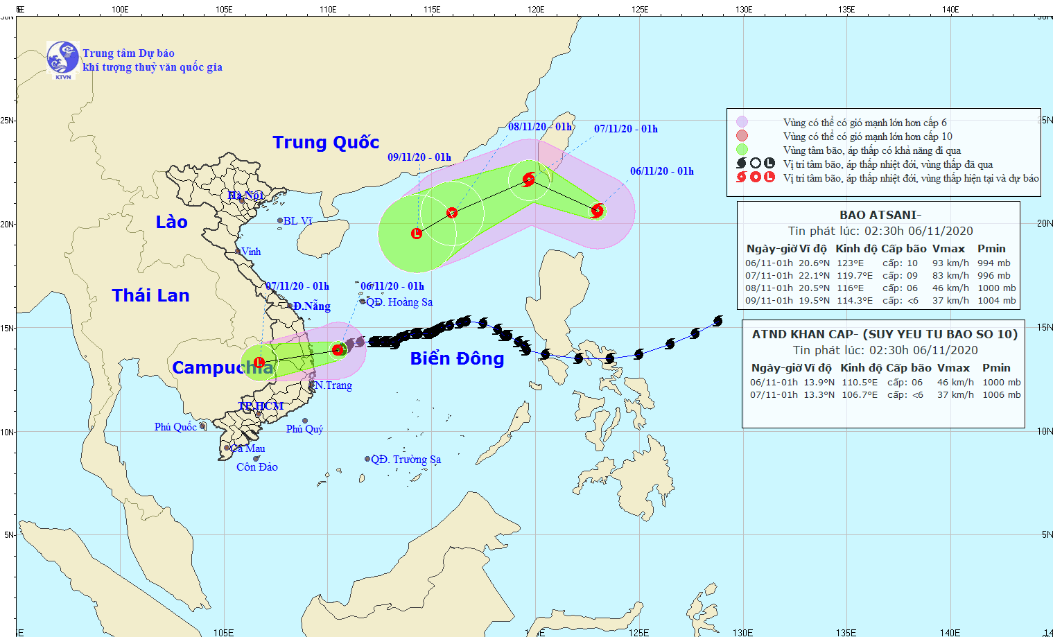 storm goni heads for south central vietnam