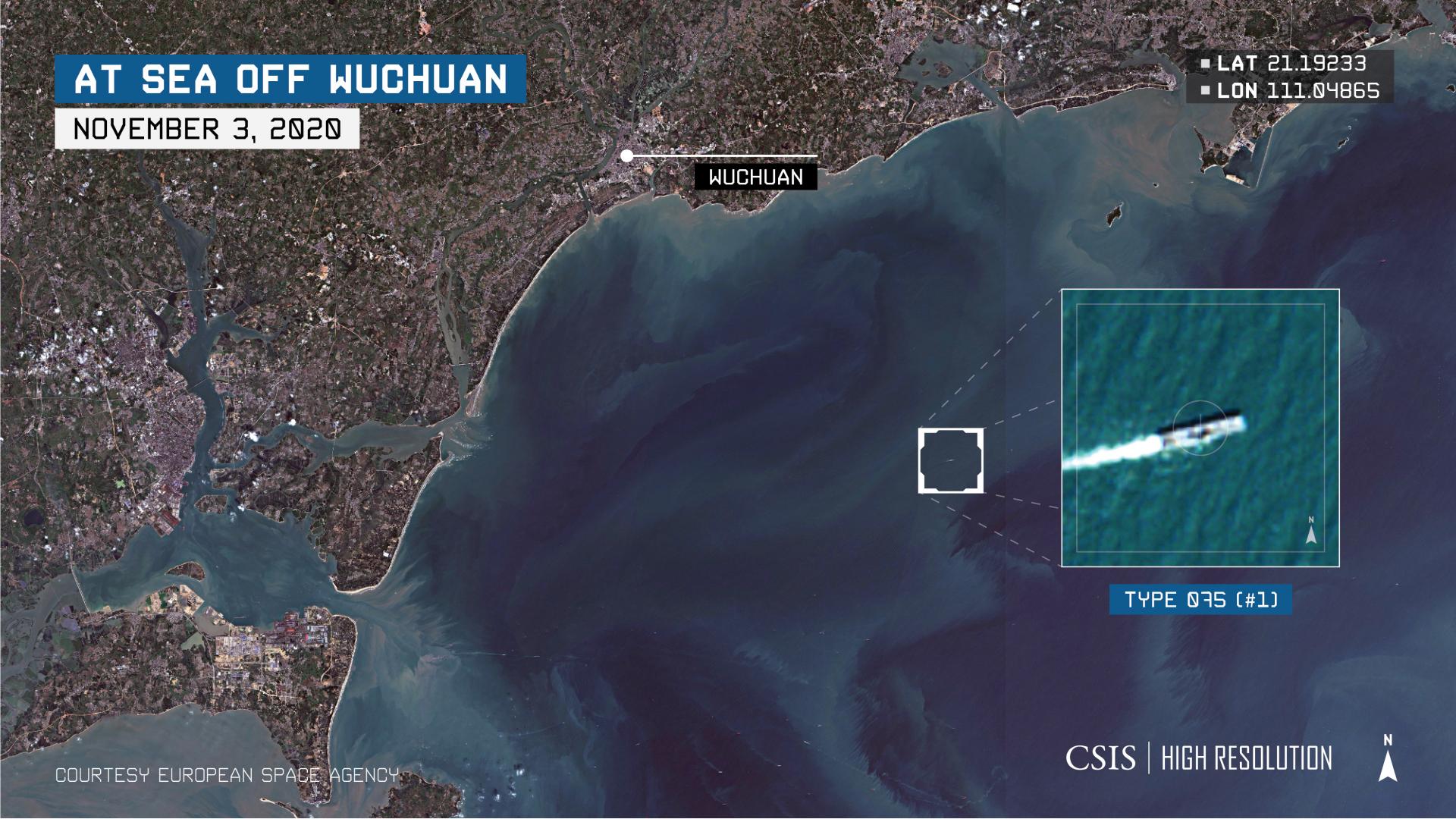 China's amphibious assault ship sails into the South China Sea (Bien Dong Sea)
