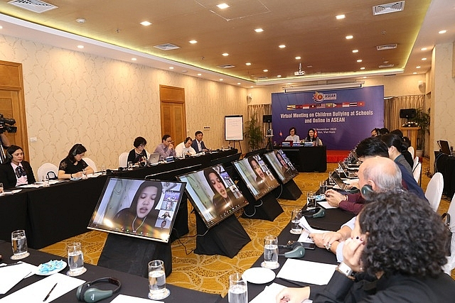 asean seeks ways to protect children from school and online bullying