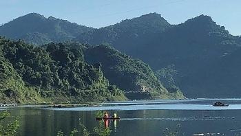 Kayaking on mountain's lake