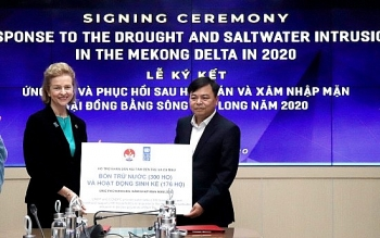 UNDP supports USD185,000 to help the Mekong Delta cope with drought and saline intrusion