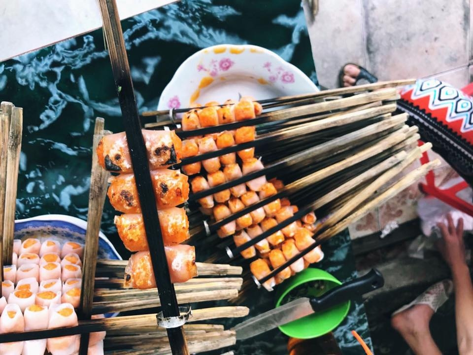 cha tom grilled shrimp rolls a special delicacy of thanh hoa province