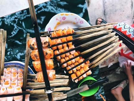 'Cha tom' (grilled shrimp rolls): A special delicacy of Thanh Hoa province
