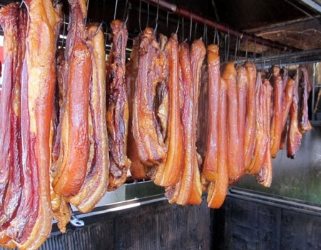 smoked pork a unique tasteful specialty from north vietnam