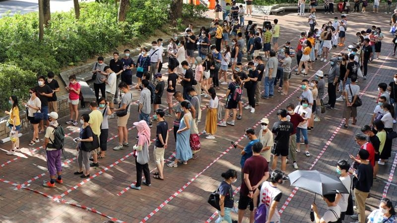 over 600000 hong kong citizens vote against the new security laws
