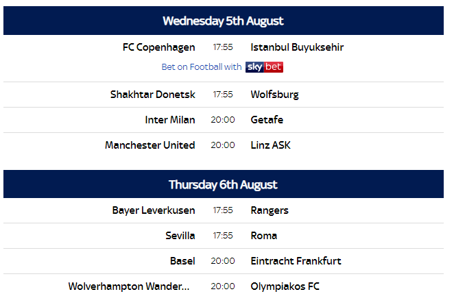 european league july 17 updated news standings and fixtures