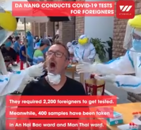 Video: Thousands of foreigners in Da Nang tested for Covid-19