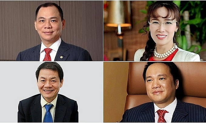How the wealth of top Vietnamese billionaires fluctuates in a year