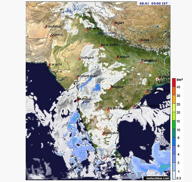 India weather forecast latest, January 8: Rain over plains of northwest India sets to reduce