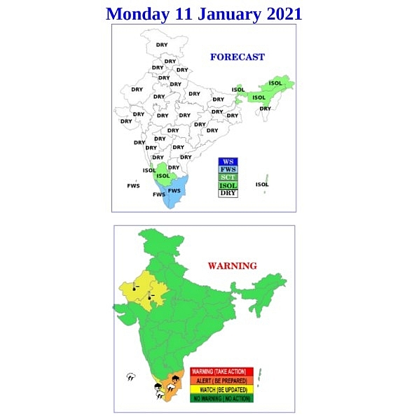 India weather forecast latest, january 11: temperatures drop over northwest areas and cause cold wave conditions
