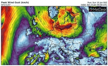 uk and europe weather forecast latest january 12 milder but colder in far north in the uk with rain then heavy snow strikes