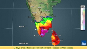 india weather forecast latest january 13 widespread rain covers tamil nadu kerala as the country braces for cold wave