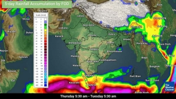 india weather forecast latest january 15 scattered rains thunderstorms in tamil nadu kerala while isolated showers to cover karnataka andhra