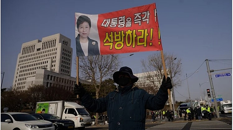South Korea's top court upholds 20 year prison sentence for ex-president Park