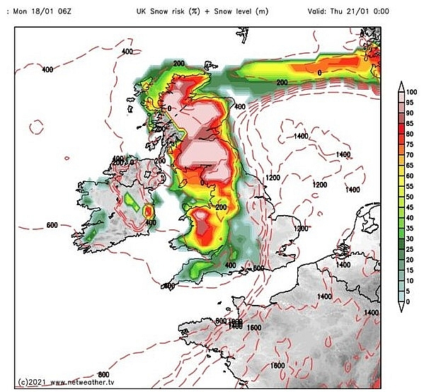 UK and Europe daily weather forecast latest, January 20: Heavy snow to hit with wintry conditions across the UK