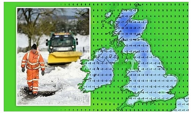 UK and Europe daily weather forecast latest, January 23: Heavy snow to blanket across the UK with wintry conditions