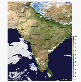india daily weather forecast latest january 23 heavy snow covers northwest jammu while dense fog prevails delhi ncr uttar pradesh