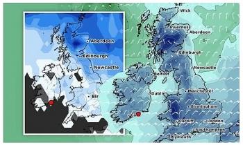 uk daily weather forecast latest january 24 brutal deep freeze hits the uk while rain system smashes europe