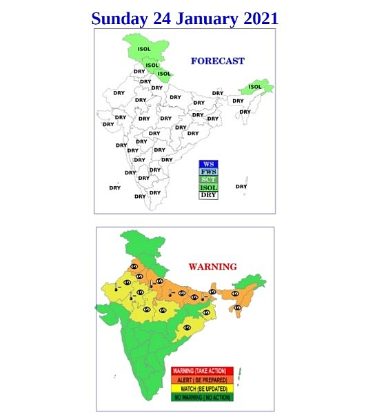 India daily weather forecast latest, january 24: states in northwest india back to chilly with severe cold wave conditions expected hit