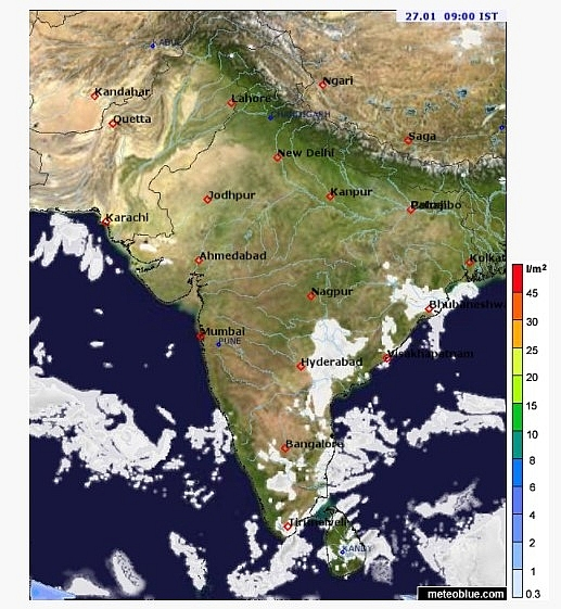 India daily weather forecast latest, January 27: Dry weather across the country with isolated rain over Andaman, Nicobar Islands