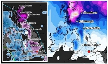 uk and europe daily weather forecast latest january 28 low pressure brings freezing air and snowy conditions to northern parts of the uk