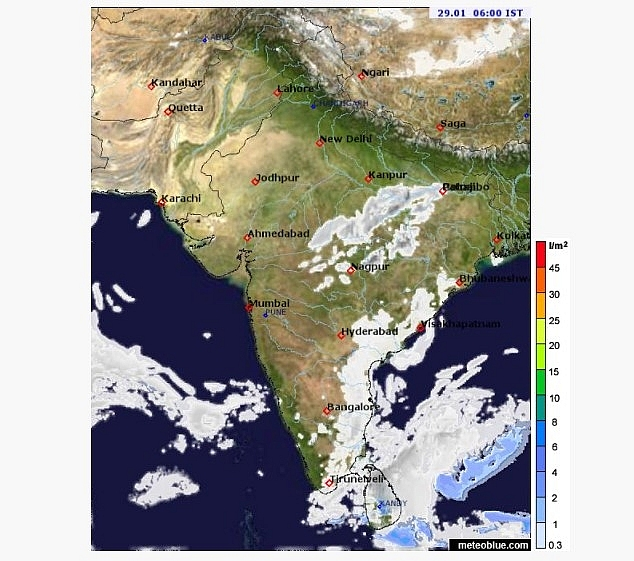India daily weather forecast latest, January 29: Light rain, snow to cover Northeast India as cold conditions persist