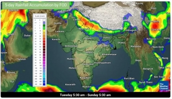 india daily weather forecast latest february 3 ten states and union territories placed under orange alert while more rainfall snow to cover in days