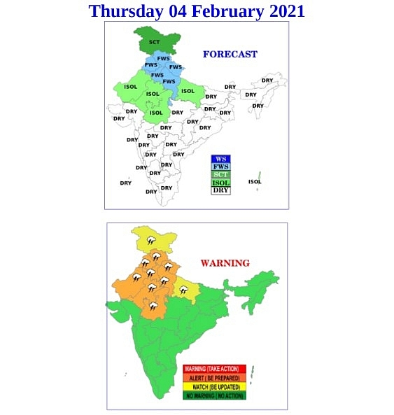 India daily weather forecast latest, February 4: Widespread rain, snow with thunderstorms, lightning and hail expected in some regions