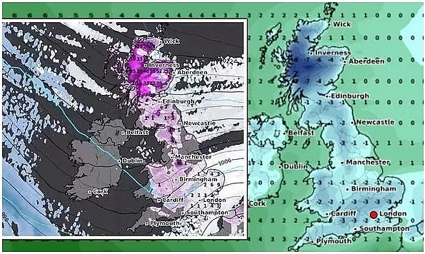 UK and Europe daily weather forecast latest, February 6: Icy weather moves across the UK while temperatures plummet to sub zero levels