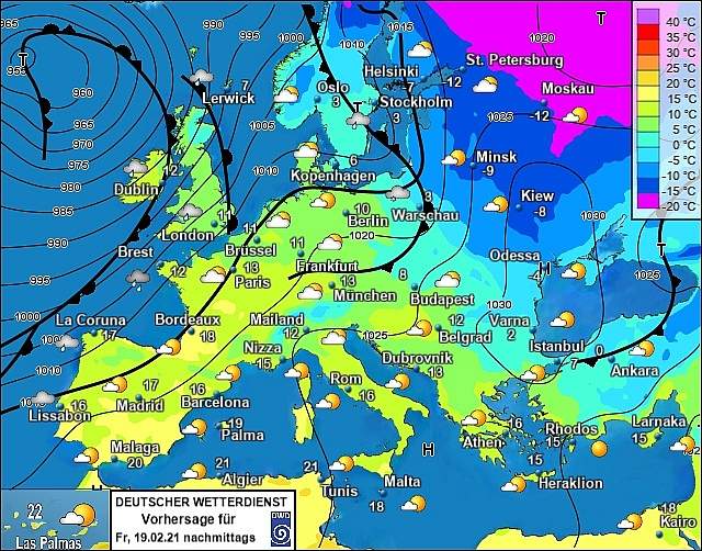 UK and Europe daily weather forecast latest, February 19: Gales and heavy rain to hit as temperatures rise