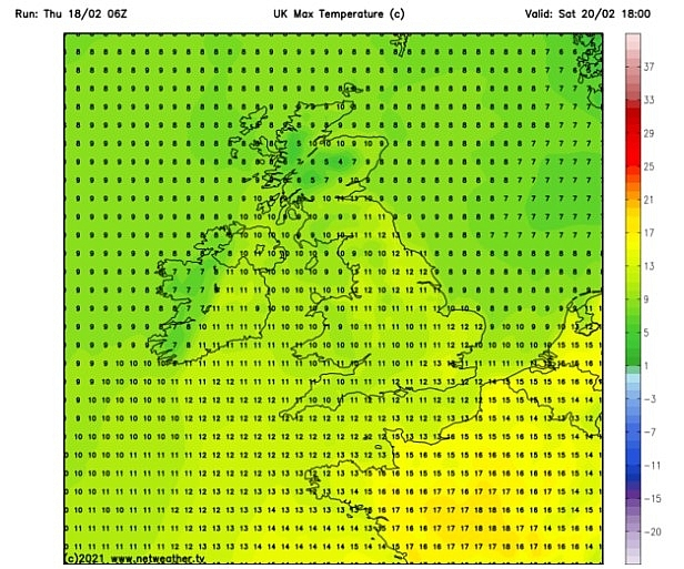 UK and Europe daily weather forecast latest, February 20: Heavy rain threatens weekend while temperatures expected to rise