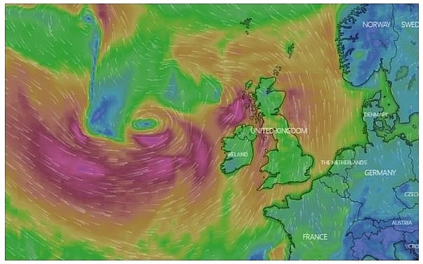 UK and Europe daily weather forecast latest, February 21: Strong winds, heavy rain engulf large parts of the UK as temperatures continue to soar