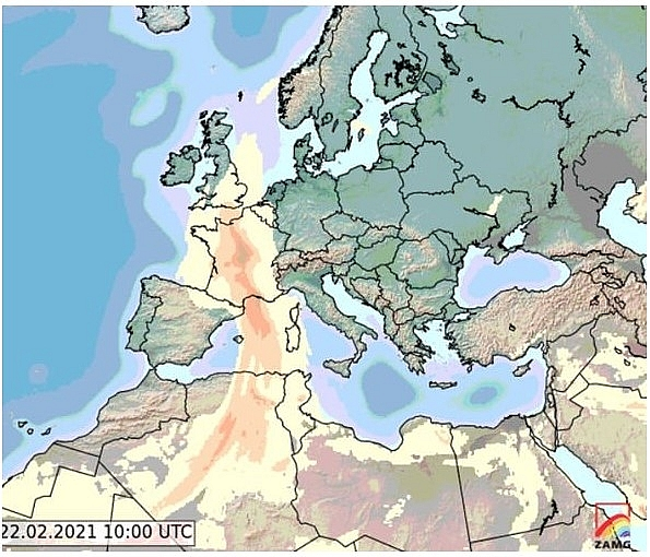UK and Europe daily weather forecast latest, February 22: Milder conditions with wet weather and Saharan dust warning across the UK