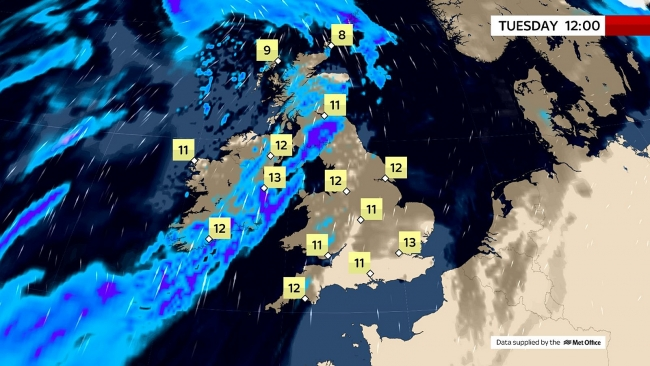 UK and Europe daily weather forecast latest, February 23: Wind, heavy rain across the North and West with local flooding in the UK
