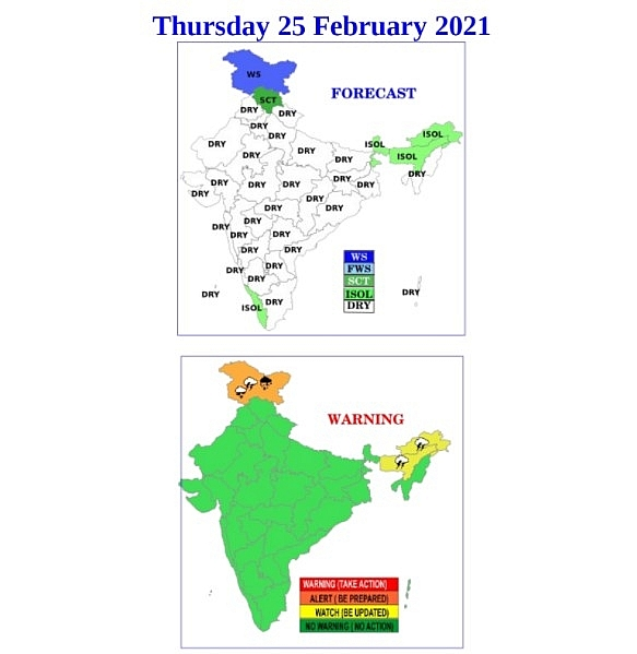 India daily weather forecast latest, February 25: Warm weather over parts of Pune and neighbourhoods