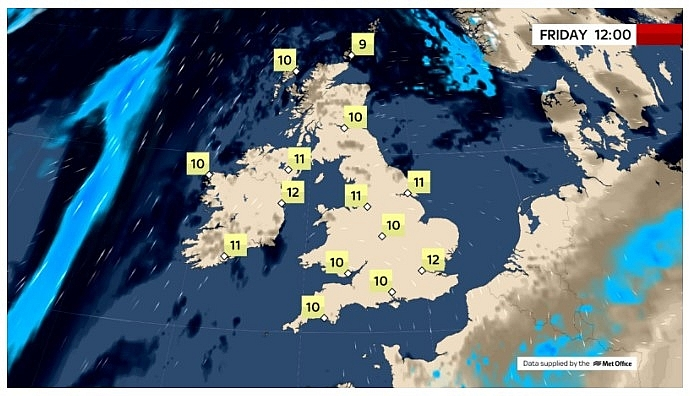 UK and Europe daily weather forecast latest, February 26: Warm temperatures across Europe as freezing air move eastwards
