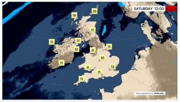 uk and europe daily weather forecast latest february 27 fine mainly dry day with bright or sunny spells in the uk