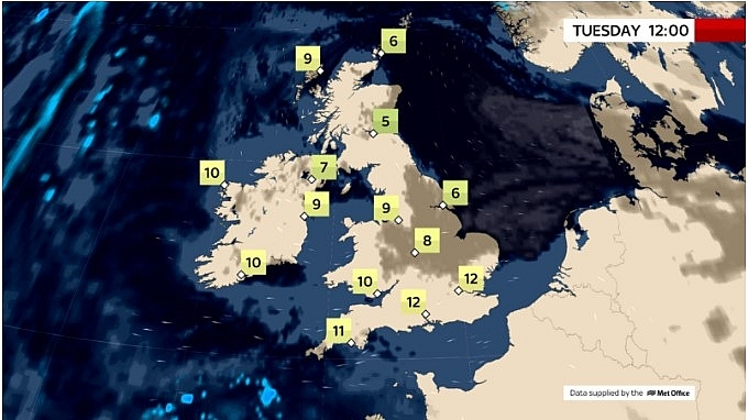 UK and Europe daily weather forecast latest, March 2: Fog and low cloud linger through the morning, persist all day in some places in the UK