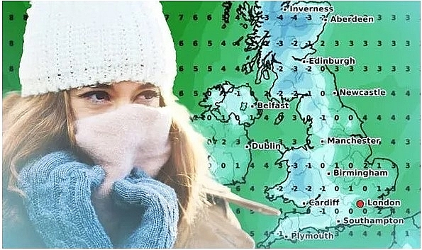 UK and Europe daily weather forecast latest, March 4: Colder, breezier weather with showery rain in the North spreading south across much of Britain