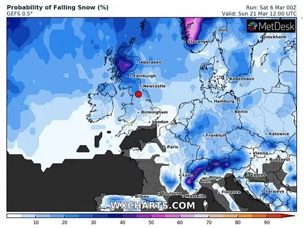 UK and Europe daily weather forecast latest, March 7: A mainly dry day with a good deal of sunshine across England, Wales and Ireland