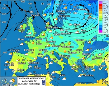 uk and europe daily weather forecast latest march 7 a mainly dry day with a good deal of sunshine across england wales and ireland