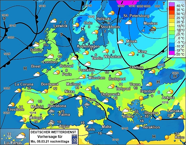 UK and europe daily weather forecast latest, march 8: cloudy with rain at times for some parts in the uk