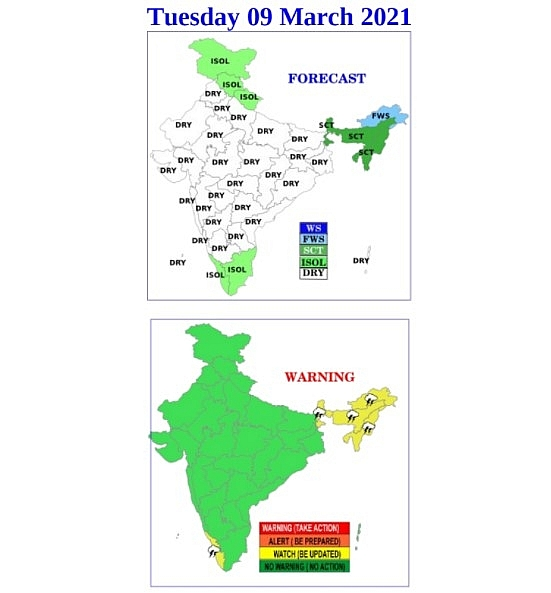 India daily weather forecast latest, March 9: Warm and sunny weather to prevail most parts of India