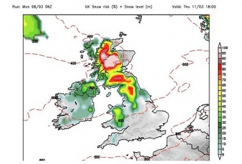 uk and europe daily weather forecast latest march 10 wet and windy weather with some snow over the scottish peaks