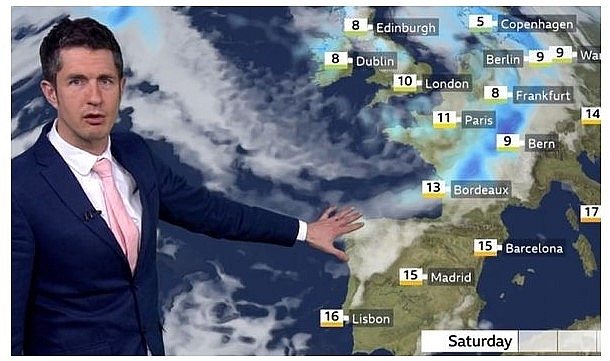 UK and europe daily weather forecast latest, march 13: windy through the weekend with further heavy showers in britain