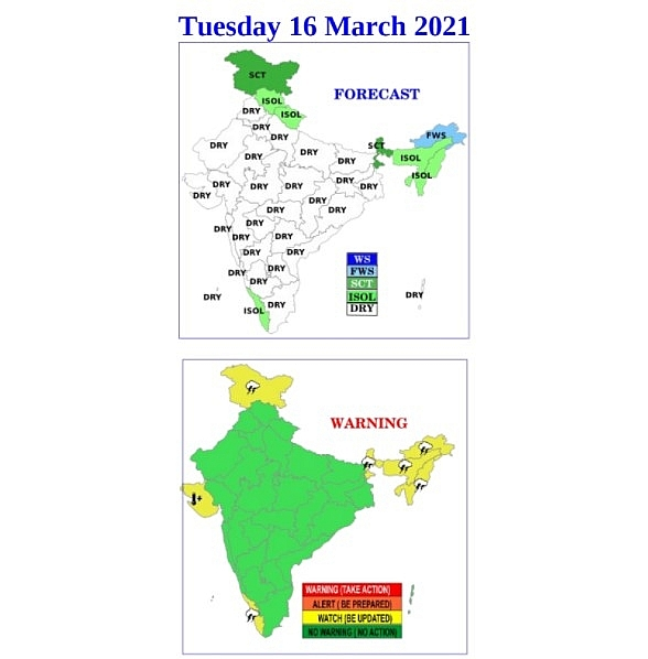 India daily weather forecast latest, march 16: wet conditions set to impact parts of north and northwest india