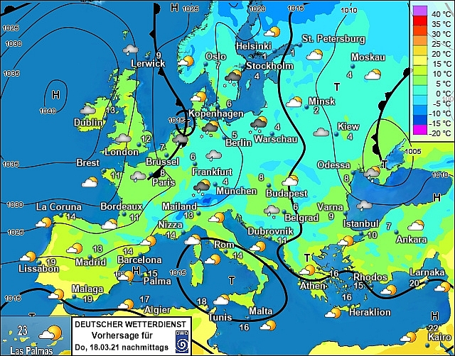 UK and Europe daily weather forecast latest, March 18:  Mostly dry and cloudy but rain to affect eastern England and northwest Scotland