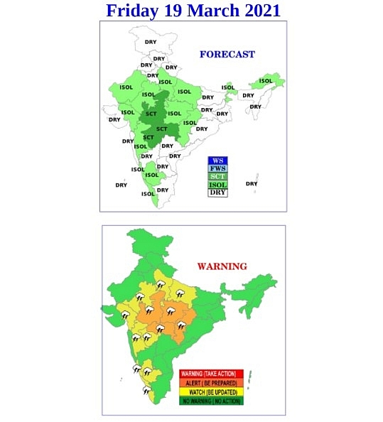 India daily weather forecast latest, march 19: a yellow alert fot heatwave over saurashtra and kutch region