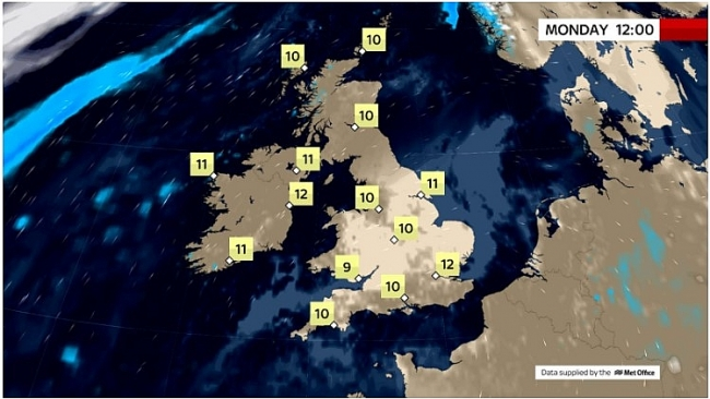 UK and Europe daily weather forecast latest, March 22: Mainly dry day with variable cloud and spells of sunshine in the UK