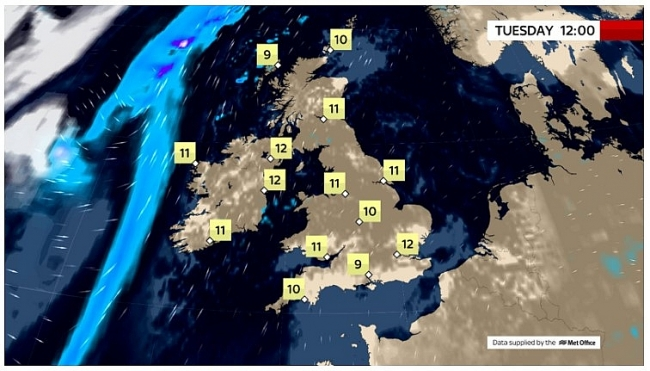 UK and Europe daily weather forecast latest, March 23: Largely fine with cloudy and breezy conditions, rain to move into western Scotland, Ireland and Northern Ireland
